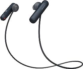 Sony 索尼 WI-SP500 无线蓝牙运动耳机 IPX4防泼溅 免提通话 黑色