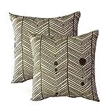 womhope 4PCS–55.88cm [ Just 覆盖 ] 波西米亚风格印花棉麻抱枕套抱枕枕套方形靠垫套枕套适用于沙发,沙发