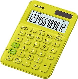 Casio 卡西欧 MS-20UC-PK 台式计算器 12 位 2.3 × 10.5 × 14.95 厘米 浅粉色 黄色