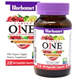 Bluebonnet Nutrition Ladies' One Vegetable Capsules, Whole Food Multiple, K2, Organic Vegetable, NSF True North, Non GMO, Gluten Free, Soy Free, Milk Free, Kosher, 60 Vegetable Capsule, 2 Month Supply