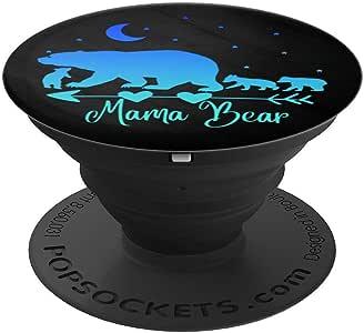 蓝绿蓝*蓝妈熊三颗立方体黑色波纹袜抓握和支架,适用于手机和平板电脑260027  黑色