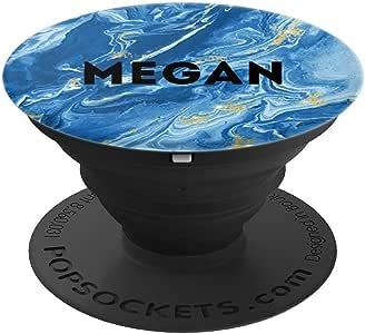 Megan Name 个性化生日礼物蓝色大理石260027  黑色