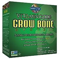 Garden of Life 原料钙补充剂 - 维生素代码骨头生长钙 整体食物维生素 含锶 素食主义者
