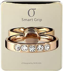 Smart Grip Grand Ring (全7种颜色) 智能手握 Grand戒指 iPhone/iPad/iPod/Galaxy/Xperia/智能手机・平板PC只需一根手指就能防止掉落・支架功能SMG-GR-R LG 浅金色