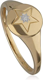 Gemondo 14K 金标志钻石星形戒指