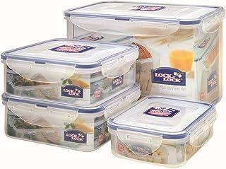 Lock & Lock HPL829O4 食品容器,4 件套包括等级的Sieger 1x HPL829,2x HPL823,1x HPL810