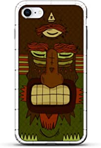 Luxendary Designer,3D 印花,时尚,高端,气袋垫LUX-I8AIR-MONSTER18 FANTASY: Scary Three-Eyed Tribal Monster 透明