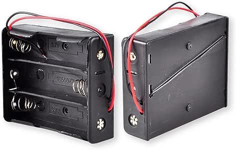 18650 电池架,Conwork 3 x 18650 电池架储物盒裸线引线(2 件装)