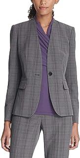DKNY 女式办公服专业单扣西装外套灰色 8 码