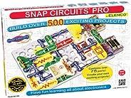 Snap Circuits Pro SC-500 電子探索套裝  超過500塊  全色項目手冊  超過75塊捕捉電路零件  干型兒童大腦開發玩具,適合8歲以上的人群