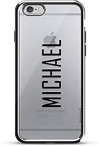 Luxendary Chrome 系列手机壳LUX-I6PLCRM-NMMICHAEL2 Name: MICHAEL, Modern FONT Style 银色
