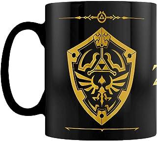 塞尔达传说 Hylian Shield & Logo 金属黑,镀金,陶瓷,容量约 315 毫升