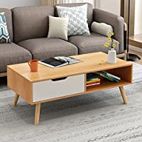 简约现代电视柜茶几组合北欧小户型地柜迷你家具伸缩电视机柜 (北欧枫木色(茶几))