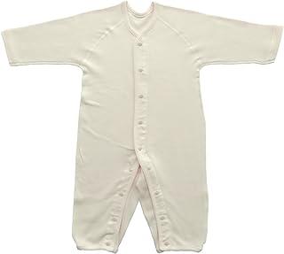 Baby Story 伸缩性长袖前开式连体婴儿服 双面罗纹 日本产 N77613 粉色 90-100