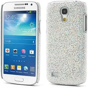 Samsung Galaxy S4 mini i9190 i9192 银色闪光手枪硬壳