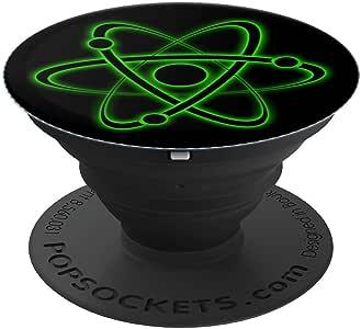 Atom 符号 原子颗粒 科学家礼物 科学爱好者 - PopSockets 握把和支架 适用于手机和平板电脑260027  黑色