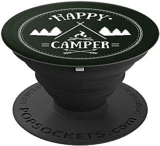 Happy Camper 带野营车 PopSockets 手机和平板电脑抓握支架260027  黑色