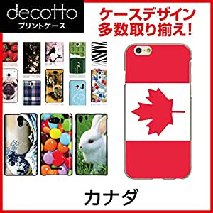 AQUOS PHONE Xx 302SH *智能手机壳 【 国旗03 花纹 】 [透明(透明) 壳]cpc-302sh-nnfga0bj カナダ