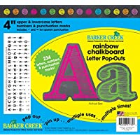 """Barker Creek - Office Products 4"""" Poster Letters & Bulletin Board Letter Pop-Outs, Rainbow Chalk (LL-1730)"""