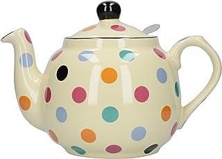 London Pottery Spotty 4 杯滤水器茶壶 多色