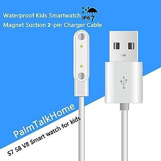 防水 GPS 跟踪儿童手表 - IP67 防水智能手表手机带 GPS/磅定位器 SOS 摄像机语音聊天游戏回返学校儿童男孩女孩 SW-Charge Line