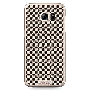 JAMMYLIZARD [ Samsung Galaxy S7 Edge Case ] MESH VEIL Protective Back Cover, Gold