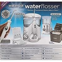WATERPIK INC Water and Nano Flosser,豪华旅行和尖头收纳盒以及 12 个配件尖组合套装