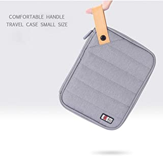 BUBM Travel Electronic Accessories Bag Case for Cable USB Digital Product Organizer Pocket, Gray (DIH-S-hui)