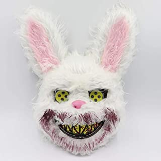 Wellin 派对万圣节恐怖乳胶面具,乳胶化装舞会道具(血腥兔子)