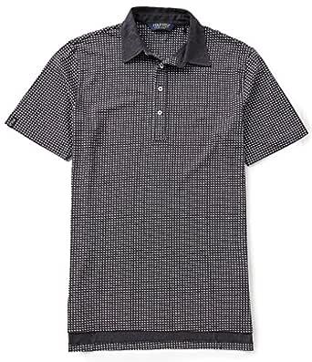 Polo Golf 男式印花奢华皮马棉短袖 Polo 衫,灰色多色,L 码