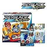 BEYBLADE *爆发套装 -- Epic Rivals 战斗套装,Rip Fire 入门套装 Spryzen S2,双包装 Xcalius X2 和 Yegdrion Y2