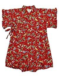 安娜尼可拉 折叠鹤图案 婴儿甚平 连体衣 女童 日本制造 11150 多色 80