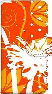 智能手机壳 手册式 对应全部机型 印刷手册 wn-687top 套 手册 花朵图案 UV印刷 壳WN-PR061459-MX AQUOS Xx2 502SH B款