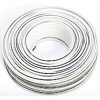 揚聲器線50米 – 2 x 2,5mm2 – *** CCA 銅色 ; 音頻線 白色