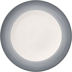 Colorful Life Cosy Grey Dinner Plate by Villeroy & Boch - Premium Porcelain - Made in Germany - Dishwasher and Microwave Safe - 10.5 Inches