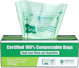Primode 可折叠袋 优质食品废料袋,* 认证的 Compost Bags 小型厨房 9L 垃圾袋,超厚 0.71 43234-728