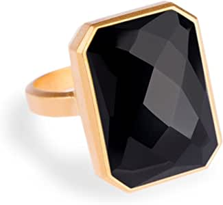 "RINGLY""Classic"" Ringly Stargaze Black Onyx Ring, Size 7"