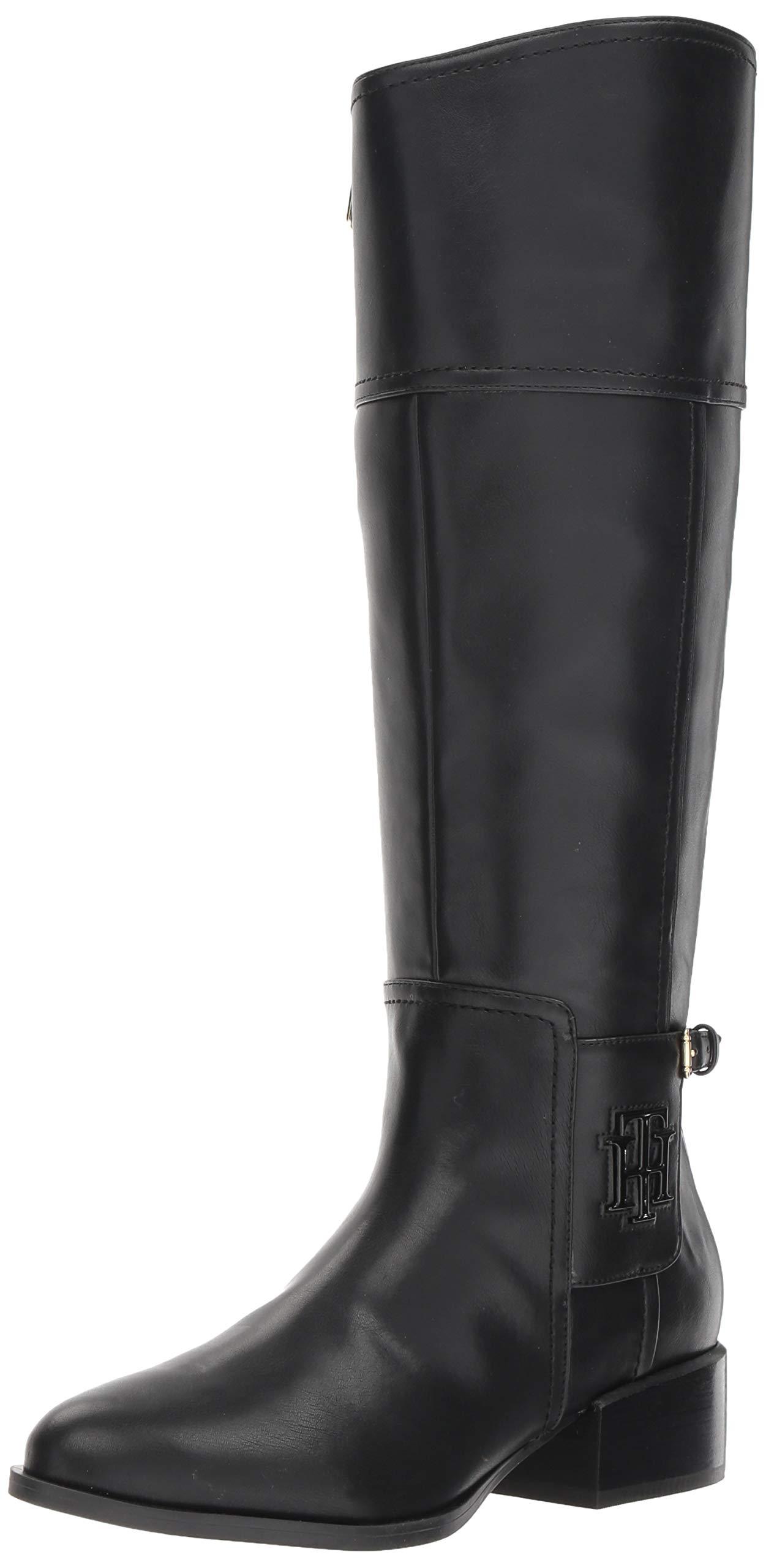Tommy Hilfiger Mani Equestrian 女靴 黑色 6.5 M US