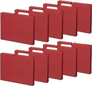 KOKUYO 文件夹 个别文件夹 NEOS A4 10册 10本套装/胭脂红 マチ30mm 胭脂红