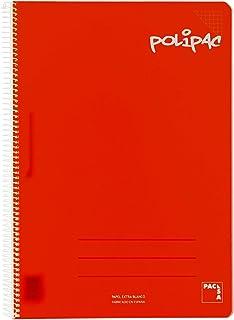 记事本 方格 4 PP Polipac 80hj 红色