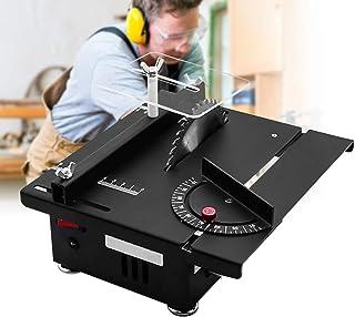 ETE ETMATE 电动桌锯,迷你便携式桌面锯机,可调节升降 DIY 工具,适用于木制模型金属瓷砖艺术工艺(小号,桌锯)