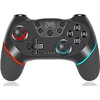 任天堂Switch的无线控制器,无线开关游戏手柄兼容任天堂Switch控制台,双电动马达和6轴陀螺运动遥控操纵杆,适用于任天堂Switch。