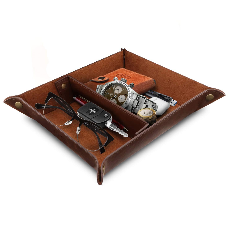 兄弟の弟オリジナルP-タッチ&Pはツィ-731シュワルツアウフGRUNと楽しいラベルを掲示しました実用的な収納ボックスダークブラウンコイン、携帯電話やオフィス機器