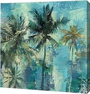 "PrintArt GW-POD-57-EY25516-30x30""水鸭棕榈"" Eric Yang Gallery 装裱艺术微喷油画艺术印刷品,76.2 x 76.2 cm"