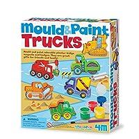 4M 石膏彩模系列 大卡车 创意美术手工DIY玩具 进口
