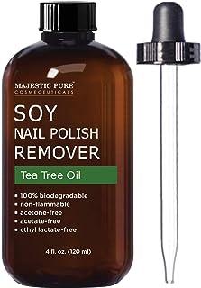 MajesticPure Soy *油去除剂 - 含有茶树油 - 不含醋酸酮和醋酸盐,清除人工*、*油、凝胶抛光和亮光 - 113.24 毫升