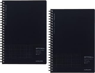 国誉 笔记 软环 Biz边缘 2本套装 方格纹(封面颜色/黑色) A5 黑色