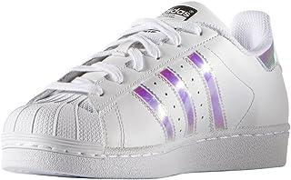 adidas原装儿童superstar 运动鞋(大童 / 小童 / 幼儿 / 婴儿) White/White/Metallic Silver 6.5 M US Big Kid