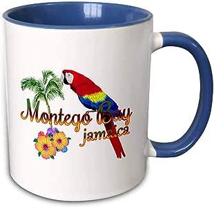 3dRose MacDonald Creative Studios - 加勒比海 - 岛屿纪念品,牙买加蒙托哥湾。 - 马克杯 蓝色/白色 11oz mug_295603_6
