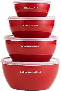 KitchenAid 經典系列備用碗(紅色,一套 4 個)